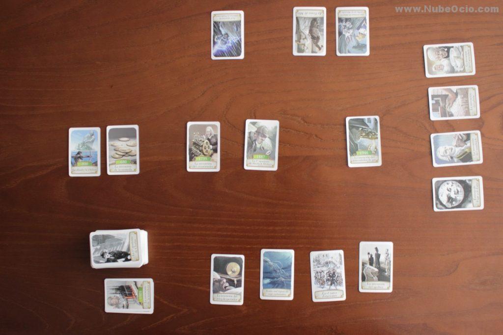 Timeline juego cartas