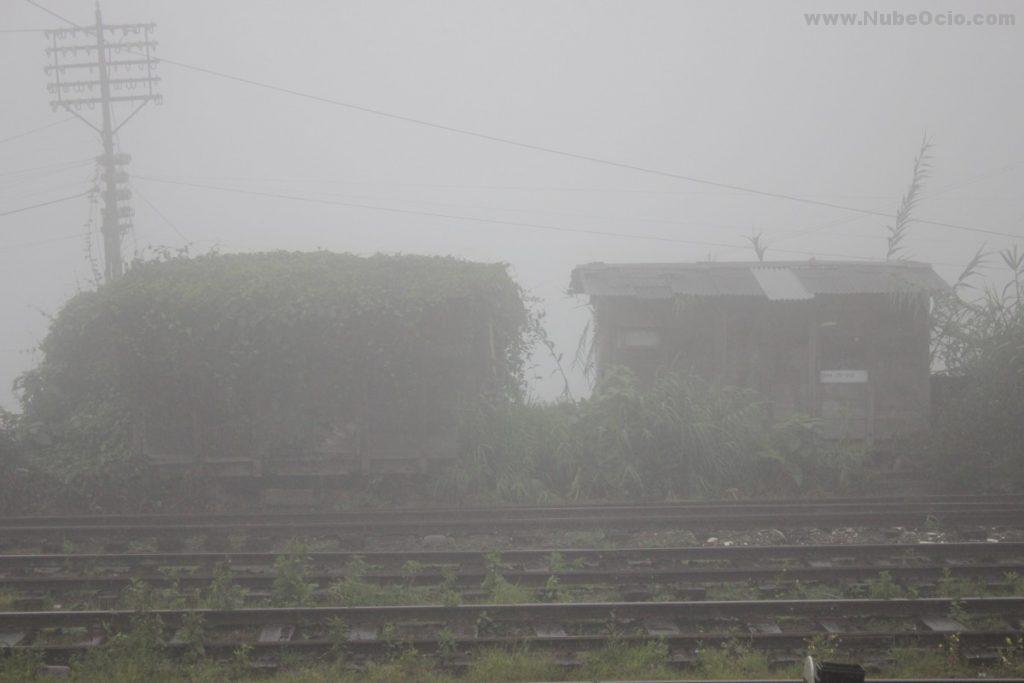 Vías desde la estación de Nanu Oya Sri Lanka
