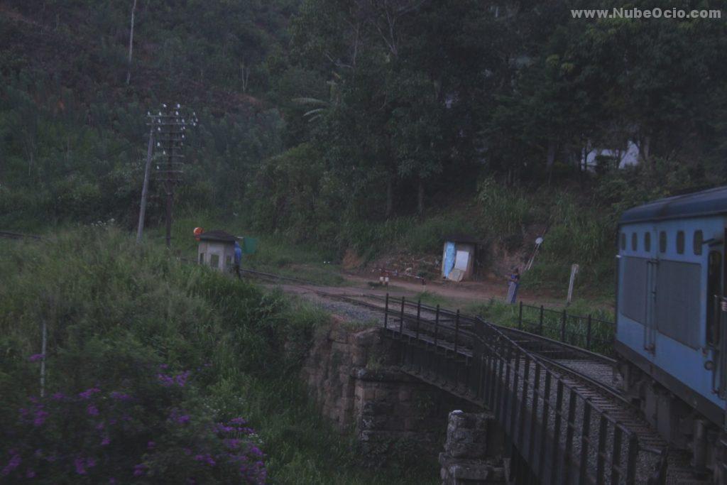 Trayecto de tren a Ella, Sri Lanka