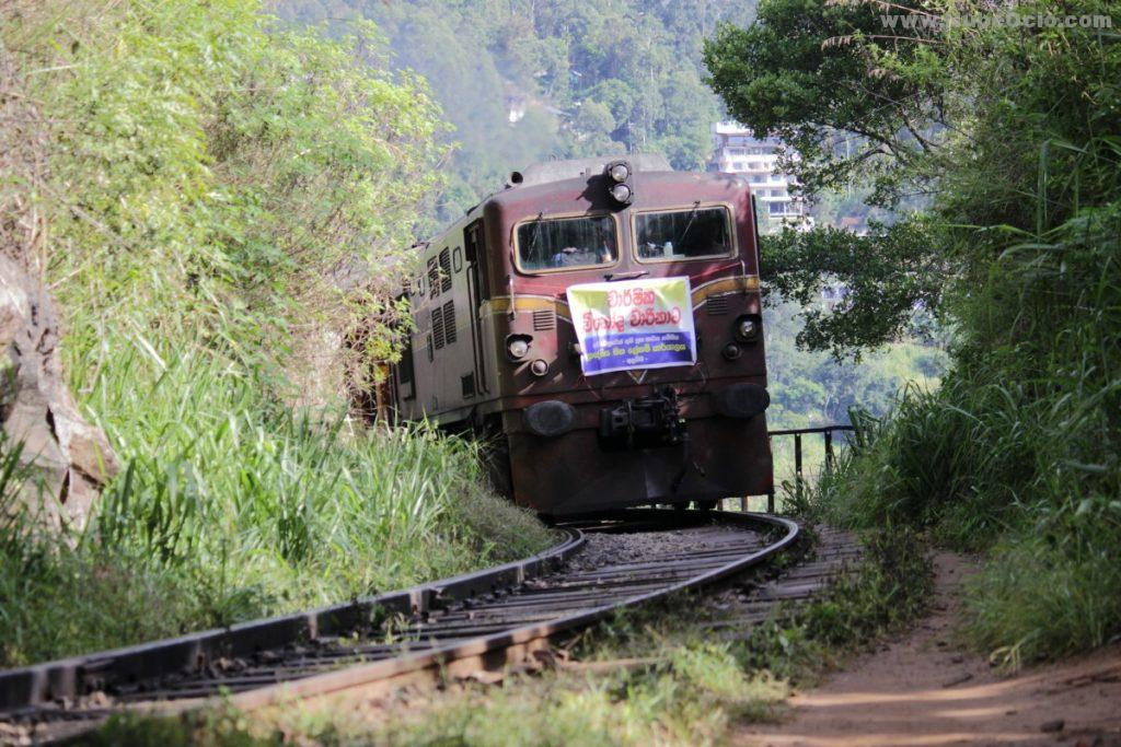 Tren cruzando el puente en Ella