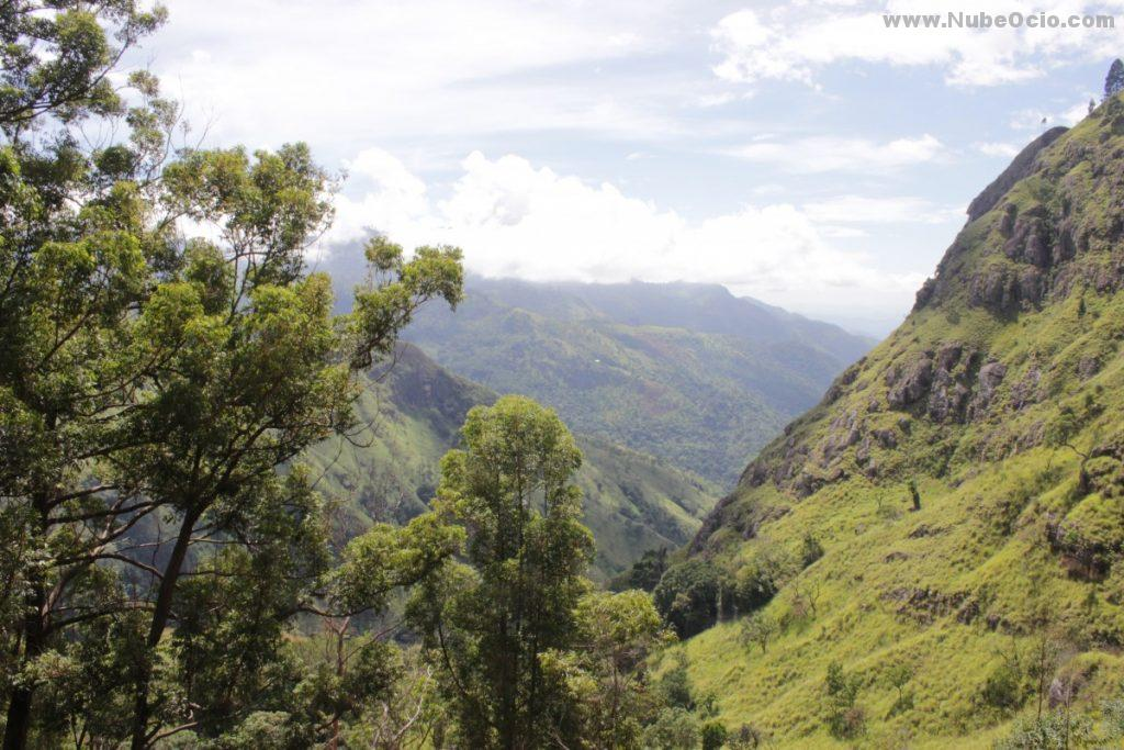 Vistas de camino a Ella Rock Sri Lanka