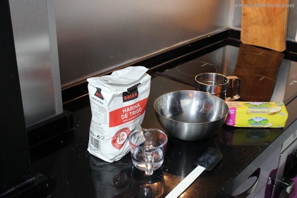 Ingredientes para la masa quebrada para la quiche